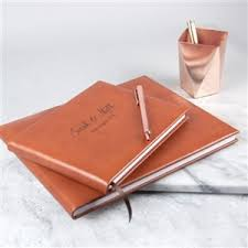 leather guest book guest books