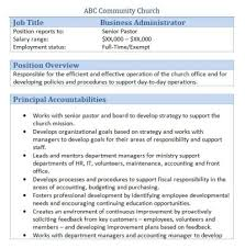 church business administrator sample resume top 8 church business