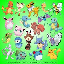 buy 2 get 1 free digital clipart pokemon lovely