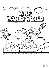download super mario color pages ziho coloring