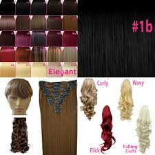 Human Hair Fringe Extensions by Fringe Bang Clip In On Hair Extensions Straight Black 1b Front Ebay