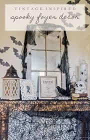 creepy home decor vintage inspired spooky halloween foyer decor inspiration spooky