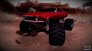 Ford Ranger Monster Truck 1970 Ford Mustang Boss Monster Truck For Gta San Andreas