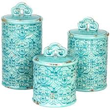 blue kitchen canister blue kitchen canister sets 4 ceramic jar canister set