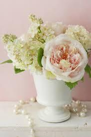 silk peonies peonies lilacs in white urn