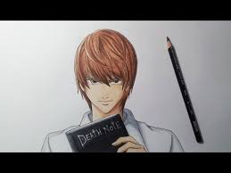 drawing light yagami death note youtube