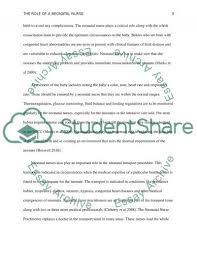 Sample Nicu Nurse Resume by The Role Of A Neonatal Nurse Essay Example Topics And Well