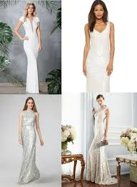 gowns for weddings white sequin gowns for weddings vow renewals or engagement