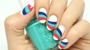 wavy striped nail art youtube