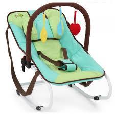 siège pour bébé transat siège berceuse pour bébé jusqu à 12 mois vert bleu ape01049