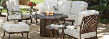 Outdoor Furniture With Fire Pit Table by Woodard Fire Pit Tables Usa Outdoor Furniture