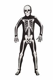 Skeleton Costumes For Halloween by Disappearing Man Skeleton Bones Costume Jumpsuit Child Walmart Com