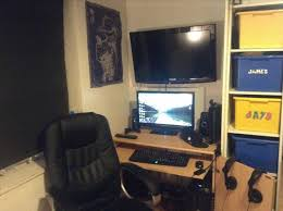 home decoration ultimate gaming setup bedroom tech desk tour