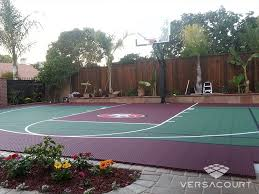 Backyard Basketball Court Versacourt Game Court Solutions For Landscape Designers