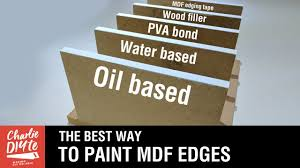 Painting Mdf Cabinet Doors by The Best Way To Paint And Seal Mdf Edges Video 3 Youtube