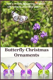 butterfly tree ornaments a beautiful theme