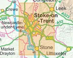 map of newcastle lyme map 258 stoke on trent newcastle lyme ordnance survey
