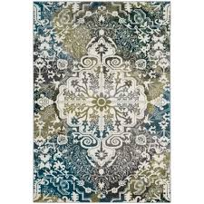 Peacock Blue Area Rug Safavieh Watercolor Ivory Peacock Blue 6 Ft 7 In X 9 Ft Area