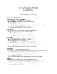 Mental Health Counselor Job Description Resume by Washburn Center Based Therapist Resume