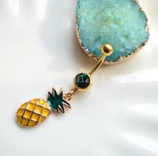 pineapple belly button ring navel piercing friendship belly