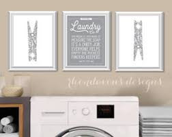 Wall Decor For Laundry Room Laundry Room Decor Etsy