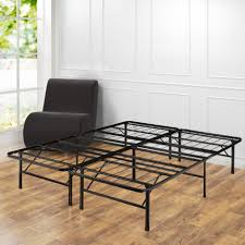 queen platform bed frame with box spring replacement and quiet