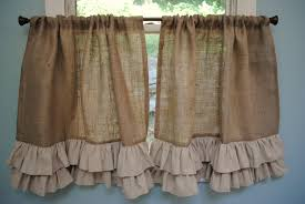 Cafe Curtain Pattern Bathroom Appealing Burlap Shower Curtain For Your Bathroom Decor