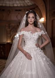 floral wedding dresses 3d floral wedding dresses 2017 pentelei with free veil and
