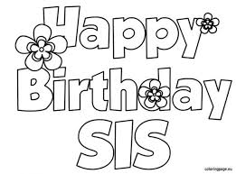 coloring pages dazzling happy birthday coloring pages happy