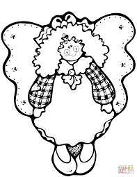 christmas angel coloring free printable coloring pages