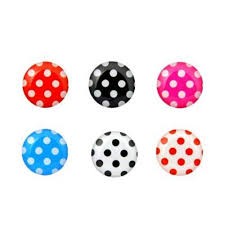 Iphone Home Button Decoration Amazon Com 6 In 1 Pack Polka Dot Pattern Soft Home Button
