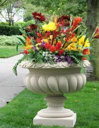 designs of flower pot make a spilled flower pot garden design idea