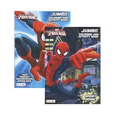 ultimate spiderman jumbo coloring u0026 activity book u2013 bazicstore