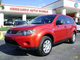red mitsubishi outlander 2008 rally red metallic mitsubishi outlander es 5435153