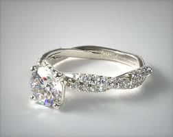 twist engagement ring pave twist white diamond engagement ring 14k white gold 17460w14