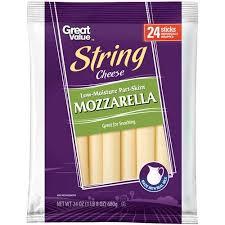 carbs in light string cheese great value mozzarella string cheese 1 oz 24 ct walmart com