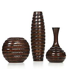 Large Wicker Vases Amazon Com Hosley U0027s Set Of 3 Wood Vases Ideal For Home Office