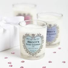 personalized baby shower favors baby shower personalised candle favours by hearth heritage