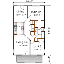 2400 Sq Ft House Plan Cottage Style House Plan 2 Beds 1 00 Baths 912 Sq Ft Plan 79 111