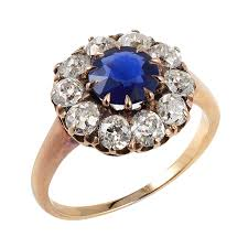 antique jewelry rings images A la vieille russie antique sapphire and diamond cluster ring png