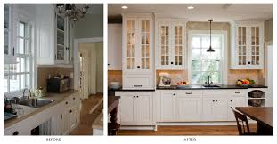 Before And After White Kitchen Cabinets How To Antique Glaze White Kitchen Cabinets Monsterlune Modern