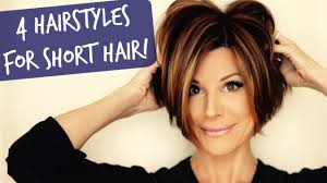 short hairstyles for women showing front and back views 4 easy short hairstyles that will make you want a bob youtube