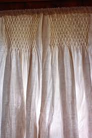 Linen Burlap Curtains Redwoodshire Learning To Grow Growing To Learn Diy Smocked