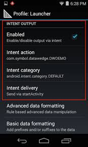 startactivity android intent output zebra technologies techdocs