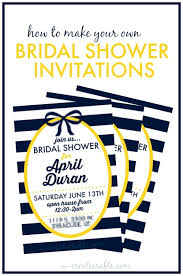 make your own bridal shower invitations how to make a bridal shower invitation u create