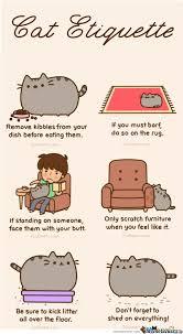 Pusheen Cat Meme - pusheen盍s cat etiquette by mandala meme center