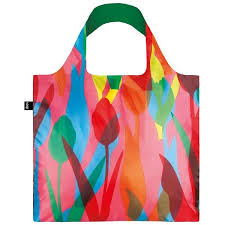 loqi reusable shopping bag travel tulips biome