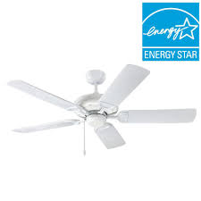 White Outdoor Ceiling Fan With Light Troposair Proseries Deluxe Builder 52 In White Outdoor