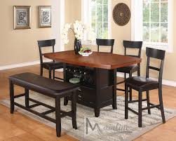 counter height bar dining sets everyday table at set w wine rack