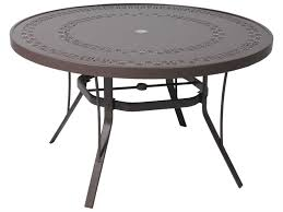 Round Patio Table Cover With Umbrella Hole by Suncoast Patterned Square Aluminum 42 U0027 U0027 Round Metal Coffee Table